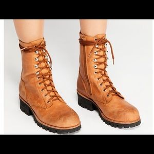 Jeffrey Campbell Lace up Luca boot size 7